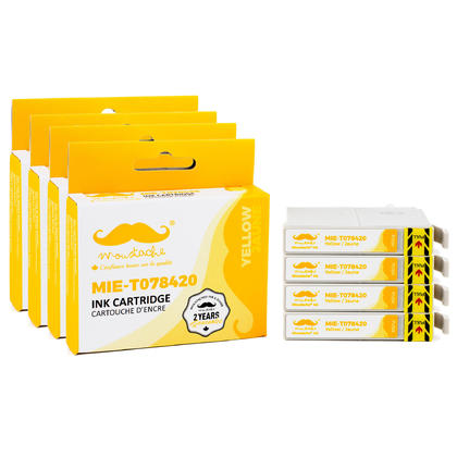 Compatible Epson 78 T078420 Yellow Ink Cartridge - Moustache@ - 4/Pack
