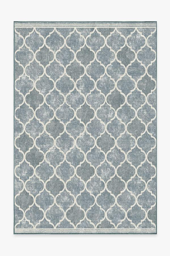 Washable Rug Cover & Pad | Terali Slate Rug | Stain-Resistant | Ruggable | 6'x9'