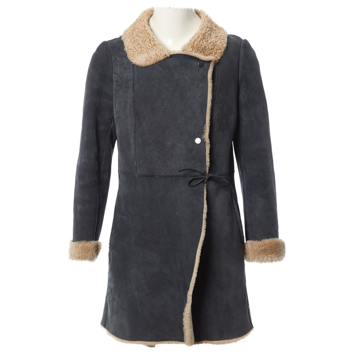 Ba&sh \N Blue Leather coat for Women 0 0-5