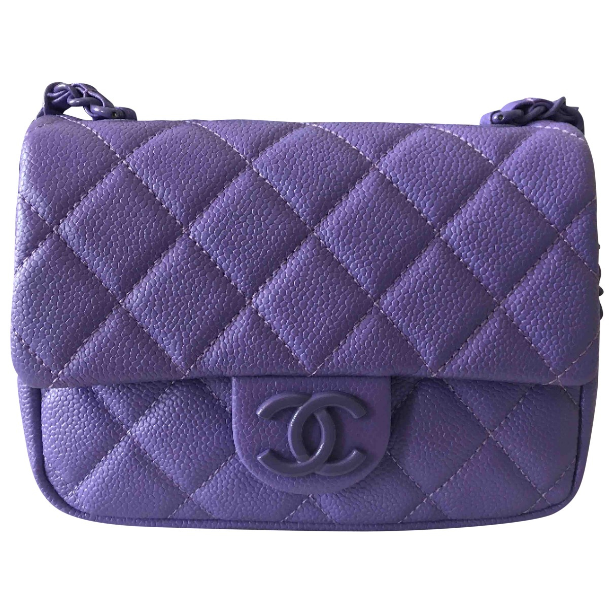 Chanel Timeless/Classique Purple Leather handbag for Women \N