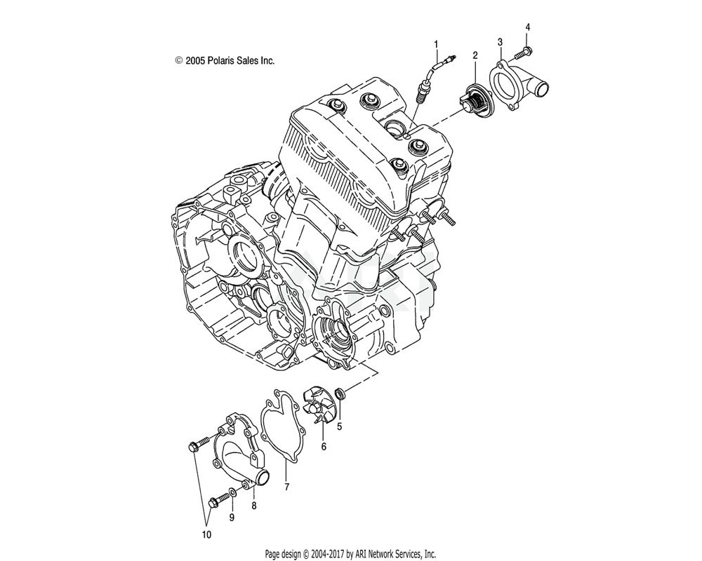 Polaris OEM 3089681 Asm., Case, Water Pump | [AB][AC]