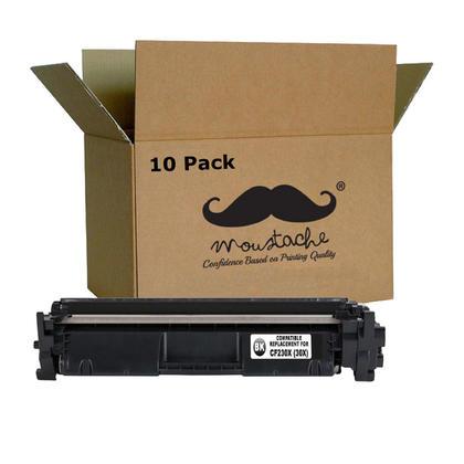 Compatible HP 30X CF230X cartouche de toner noire haute capacite avec puce - boite economique - 10/paquet