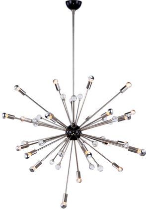 1515G42PN 1515 Nebula Collection Chandelier D:42In H:72.5In Lt:24 Polished Nickel And Bronze Finish (Royal Cut