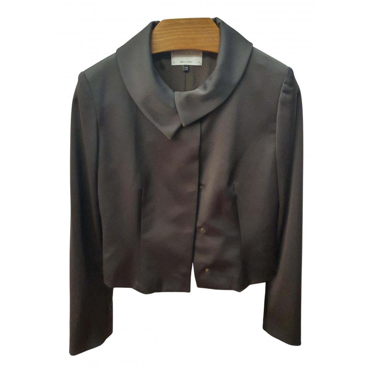 Alexander Mcqueen \N Anthracite jacket for Women 44 IT