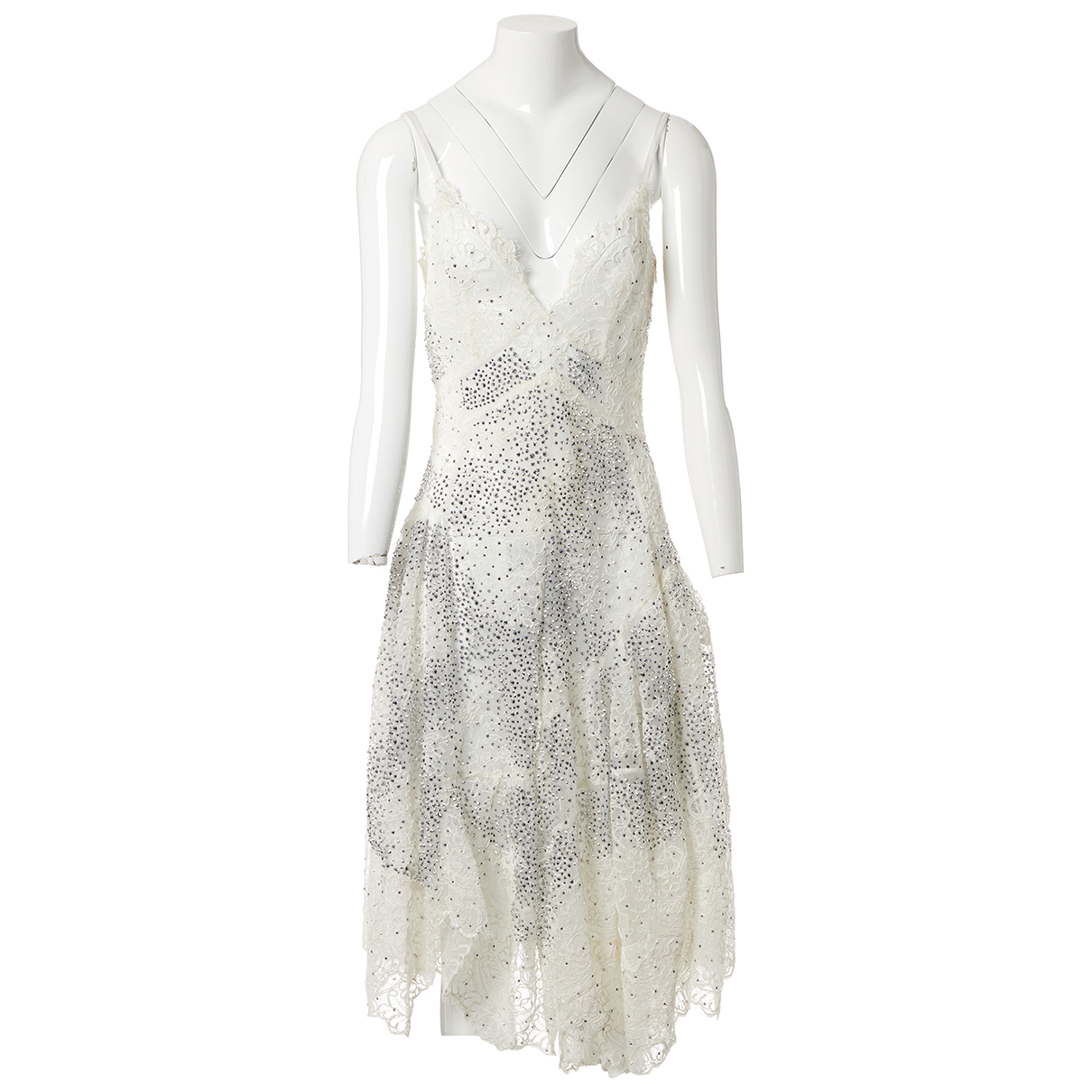 Ermanno Scervino N Ecru Lace dress for Women 40 IT