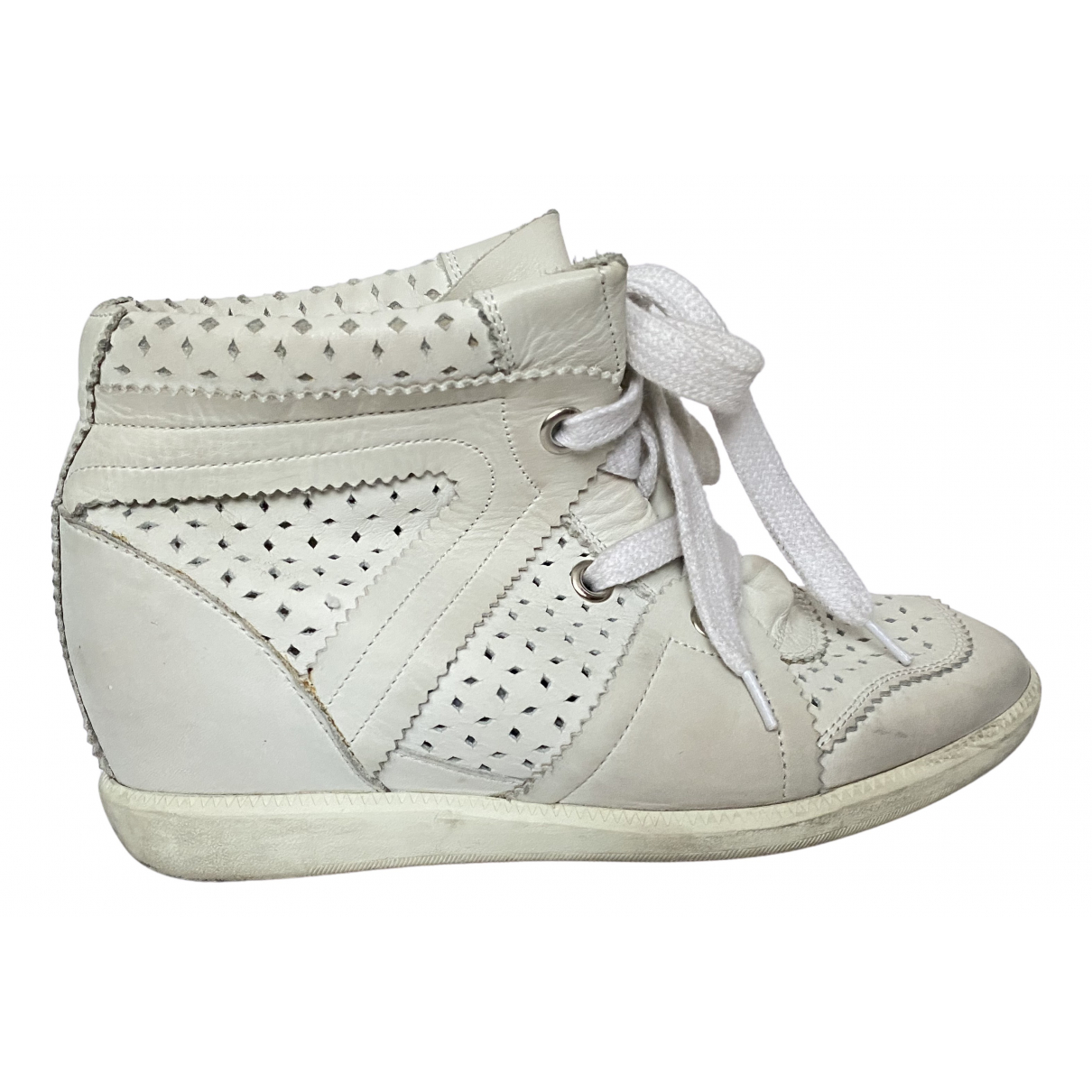 Isabel Marant Betty Sneakers in  Weiss Leder