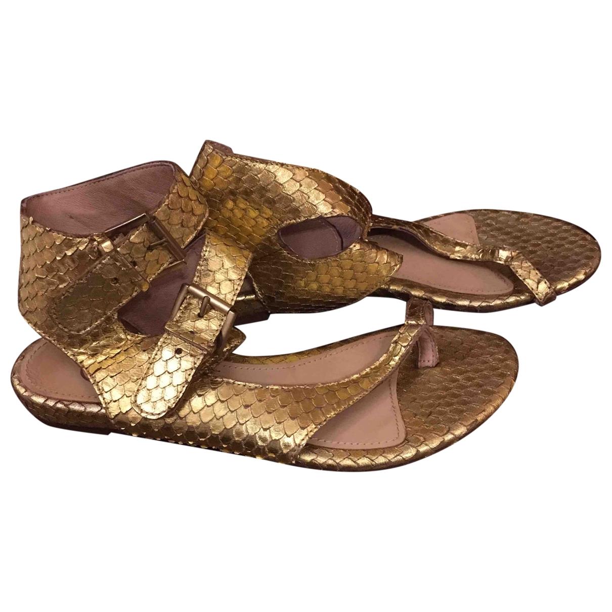 Ash - Sandales   pour femme en cuir - dore