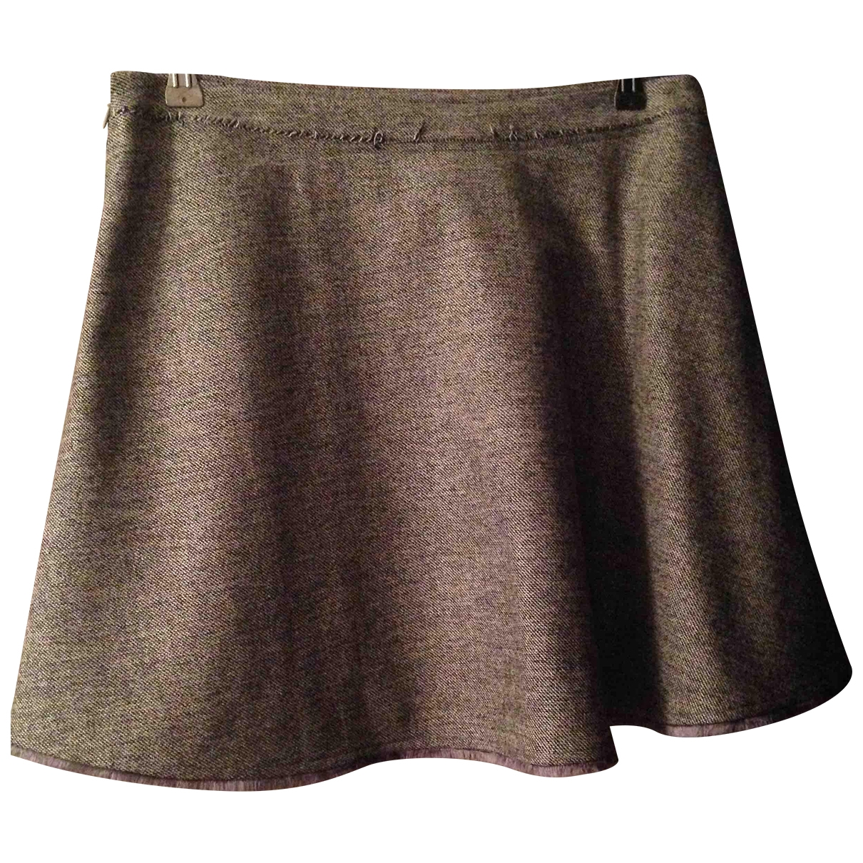 Balenciaga \N Grey Wool skirt for Women 40 IT