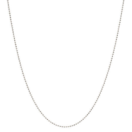 Silver Treasures 18 Inch Diamond Cut Shot Bead Chain Necklace, One Size , No Color Family