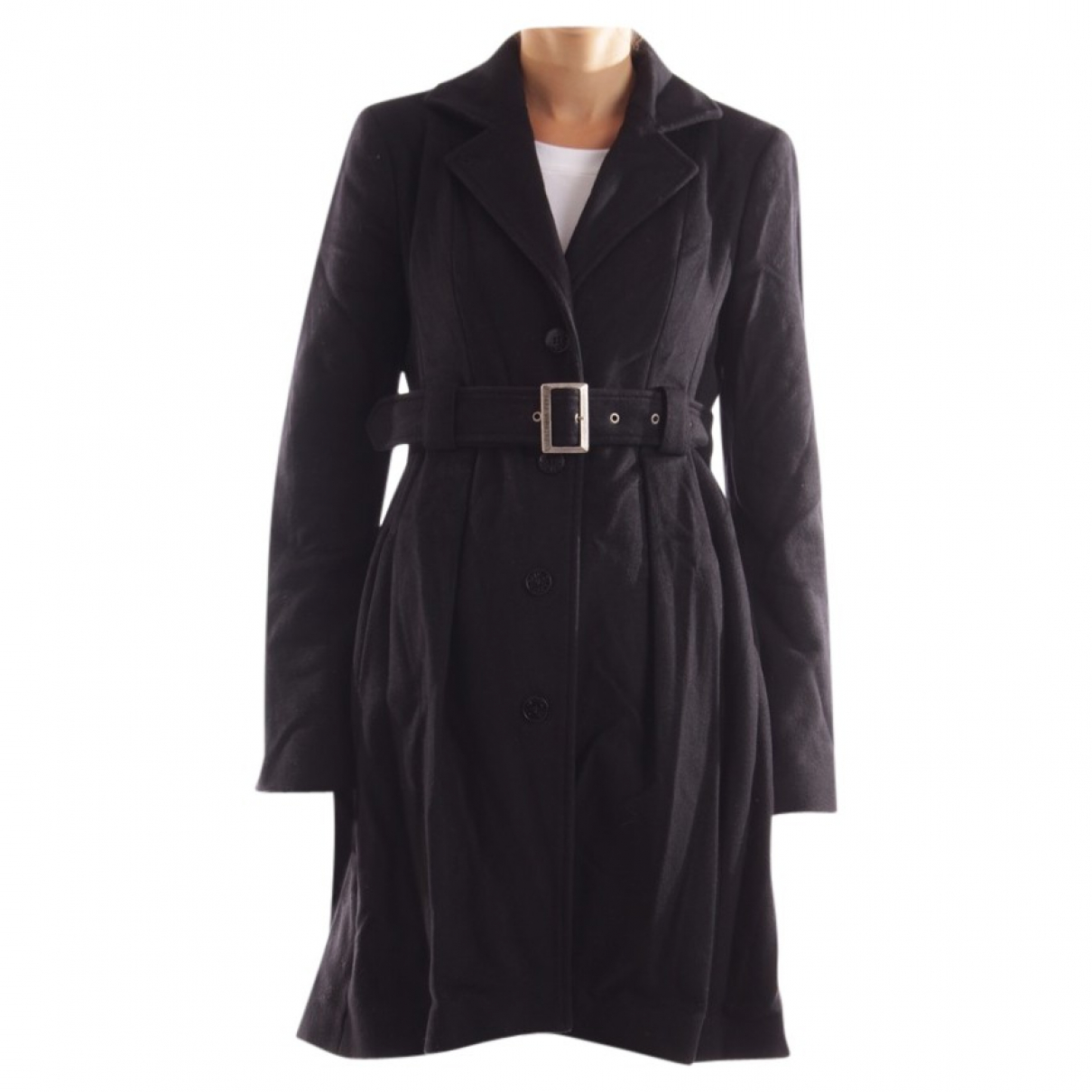Patrizia Pepe \N Black Linen jacket for Women 38 FR