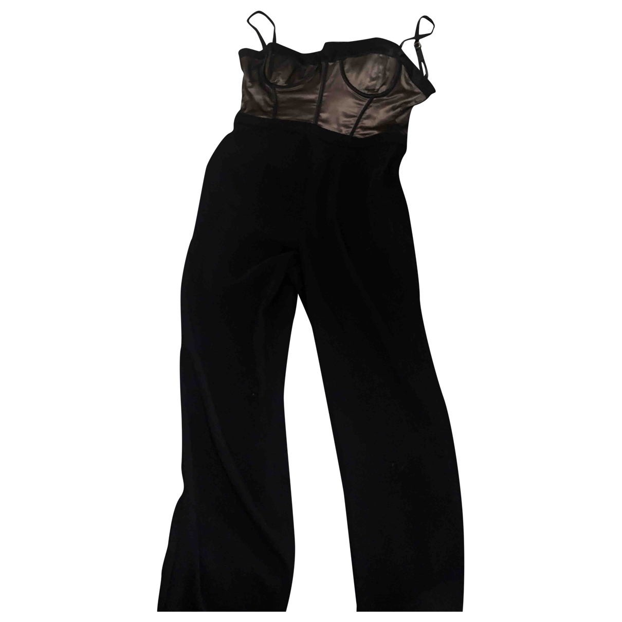 House Of Cb \N Jumpsuit in  Schwarz Polyester