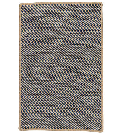 Colonial Mills Eden Textured Braided Rug, One Size , Blue