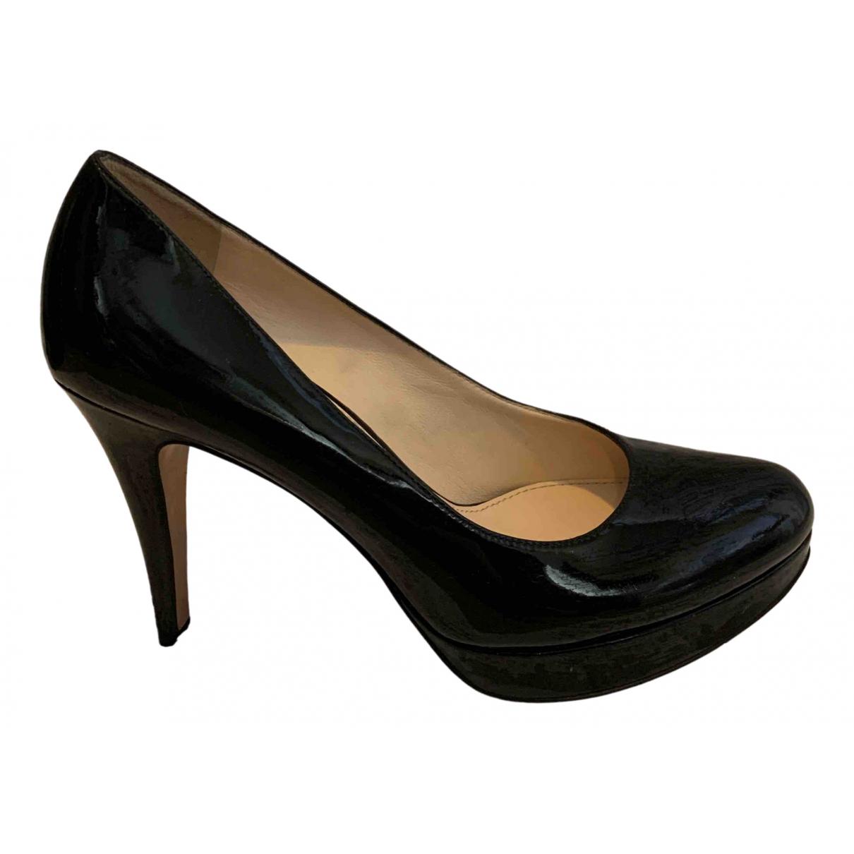 Prada N Black Patent leather Heels for Women 38.5 IT