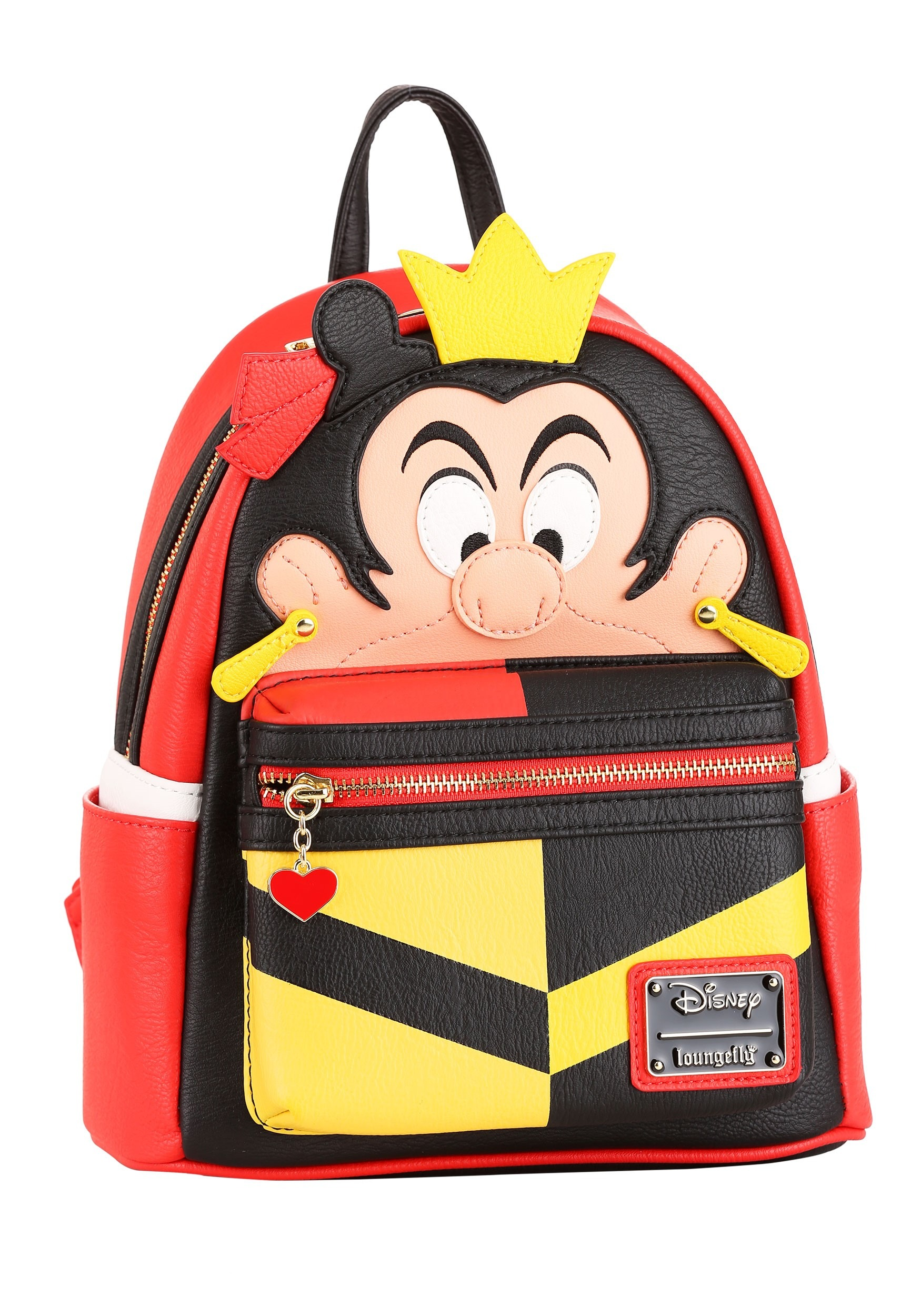 Loungefly Disney Queen of Hearts Mini Faux Leather Backpack