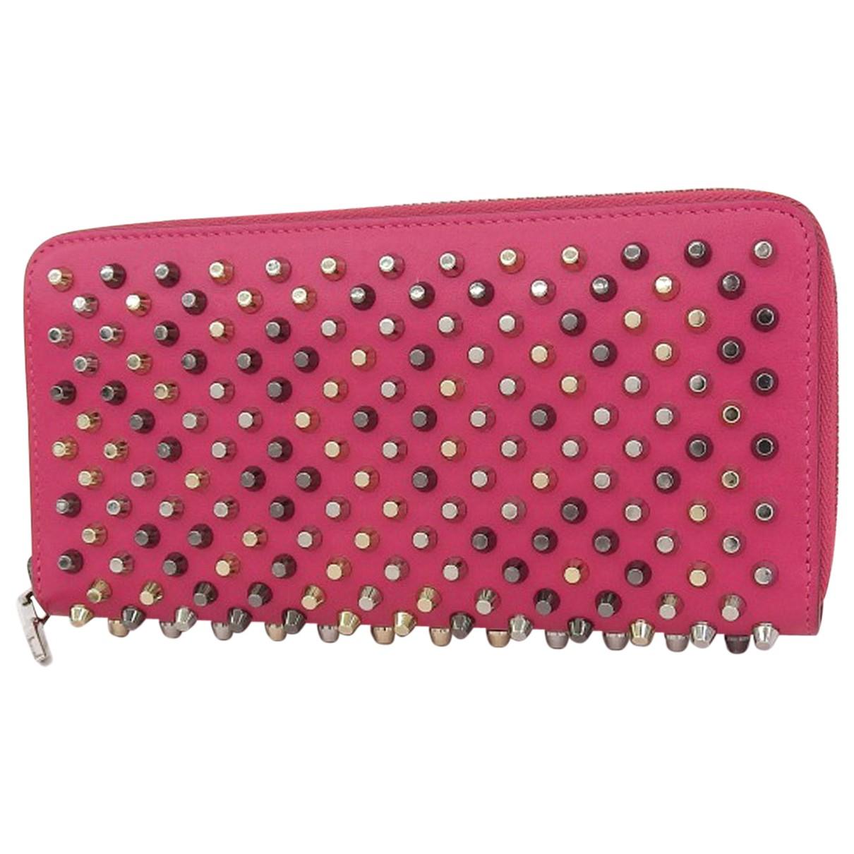 Christian Louboutin - Portefeuille Panettone pour femme en cuir - rose