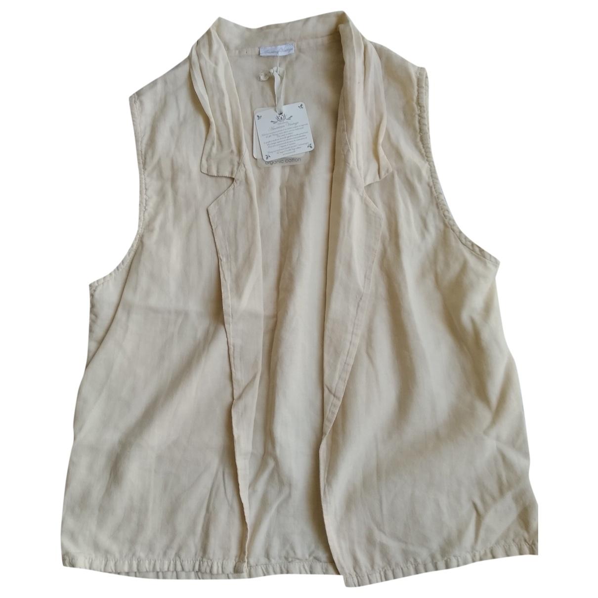 American Vintage - Pull   pour femme en coton - beige