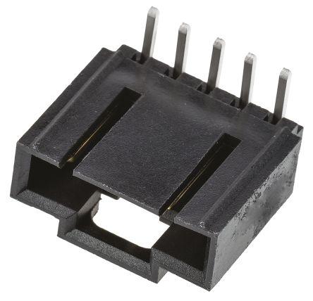 Molex , SL, 70553, 5 Way, 1 Row, Right Angle PCB Header (10)