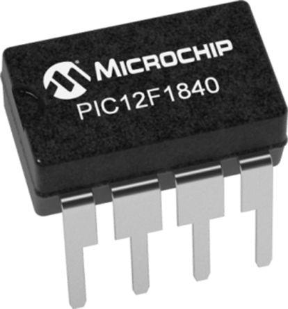 Microchip PIC12LF1840-I/MF, 8bit Microcontroller, PIC16C, 32MHz, 2 kwords Flash, 8-Pin DFN (120)