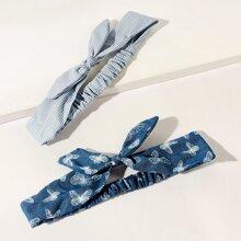 2pcs Butterfly Pattern Headband