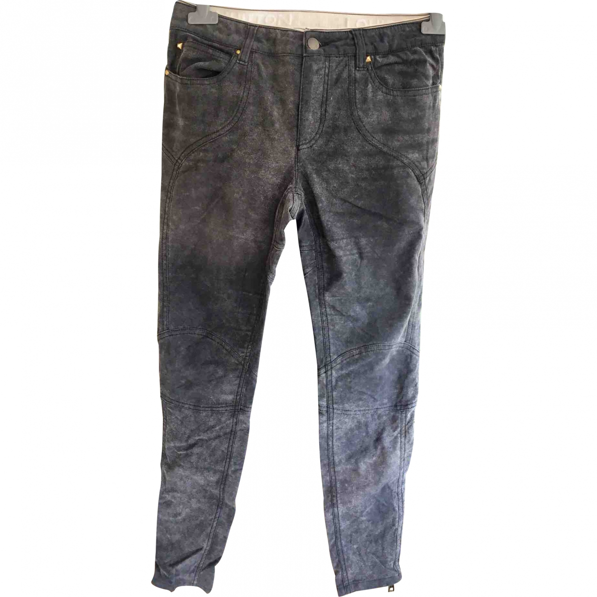 Louis Vuitton \N Grey Cotton Trousers for Women 38 FR