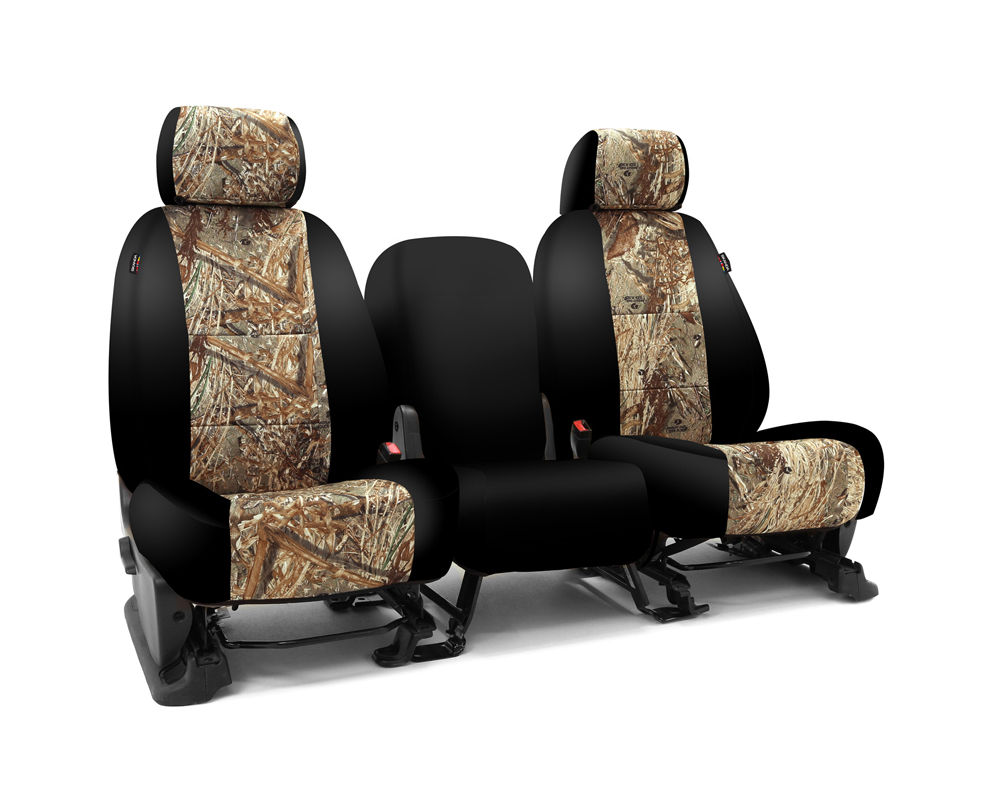 Coverking CSC2MO05FD7028 Skanda Custom Seat Covers 1 Row Neosupreme Mossy Oak Duck Blind with Black Sides Front Ford F-250 | F-350 Super Duty 1999-200