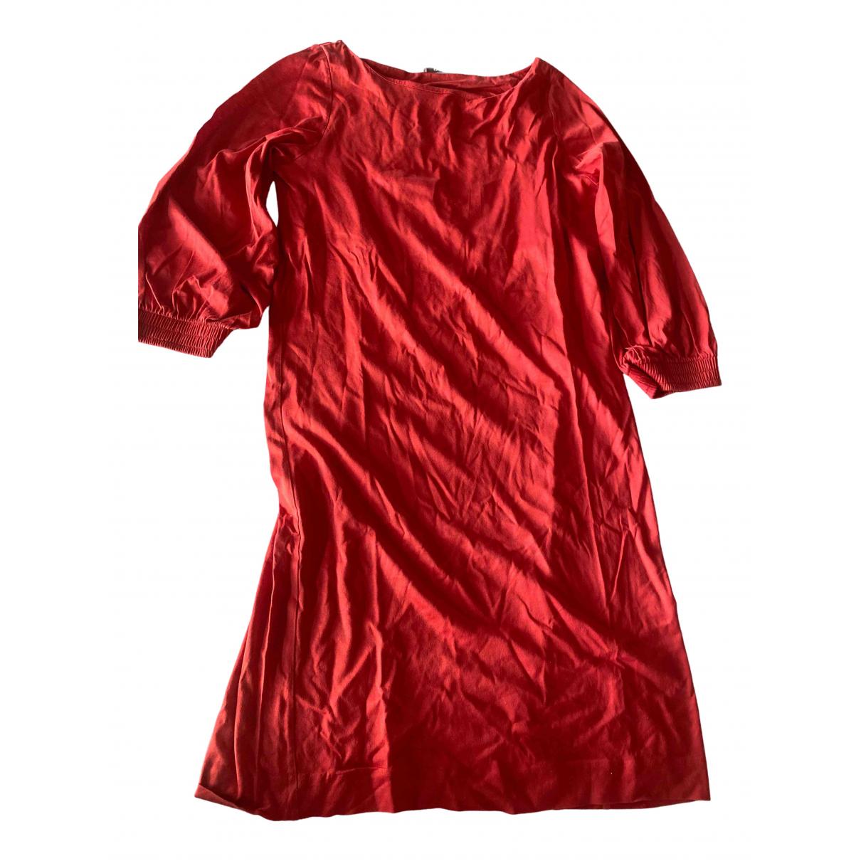 Cos - Robe   pour femme en coton - orange
