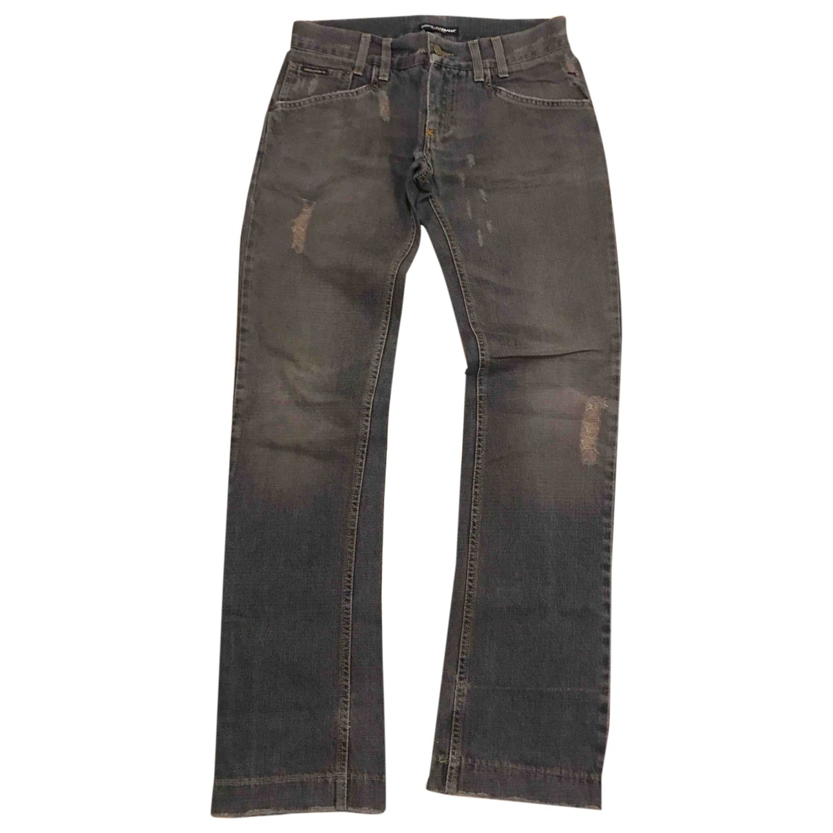 Dolce & Gabbana \N Anthracite Cotton Jeans for Men 30 US