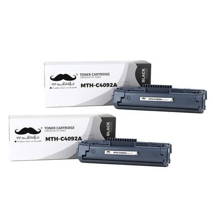 Compatible HP 92A C4092A Black Toner Cartridge - Moustache@ - 2/Pack