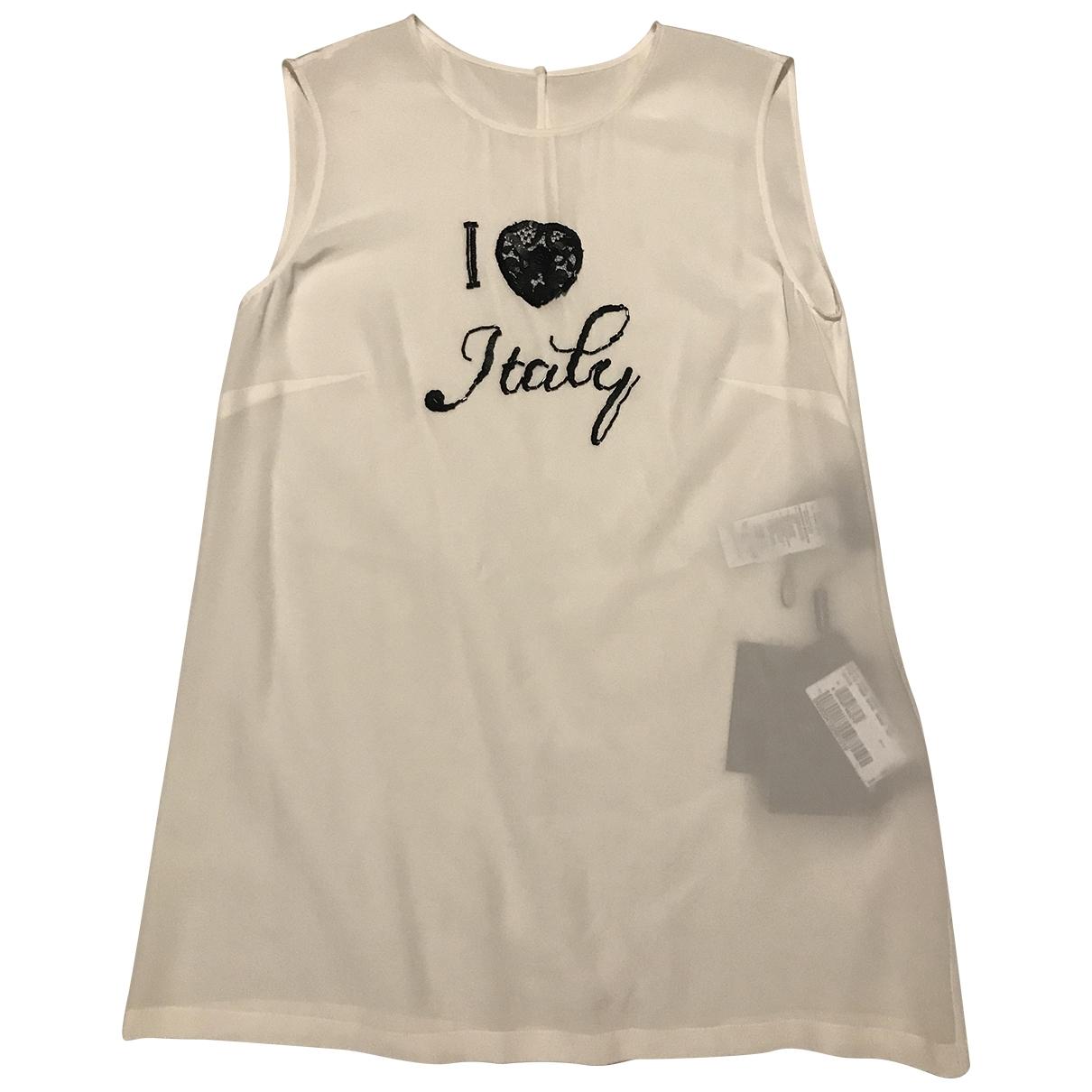 Camiseta sin mangas de Seda Dolce & Gabbana