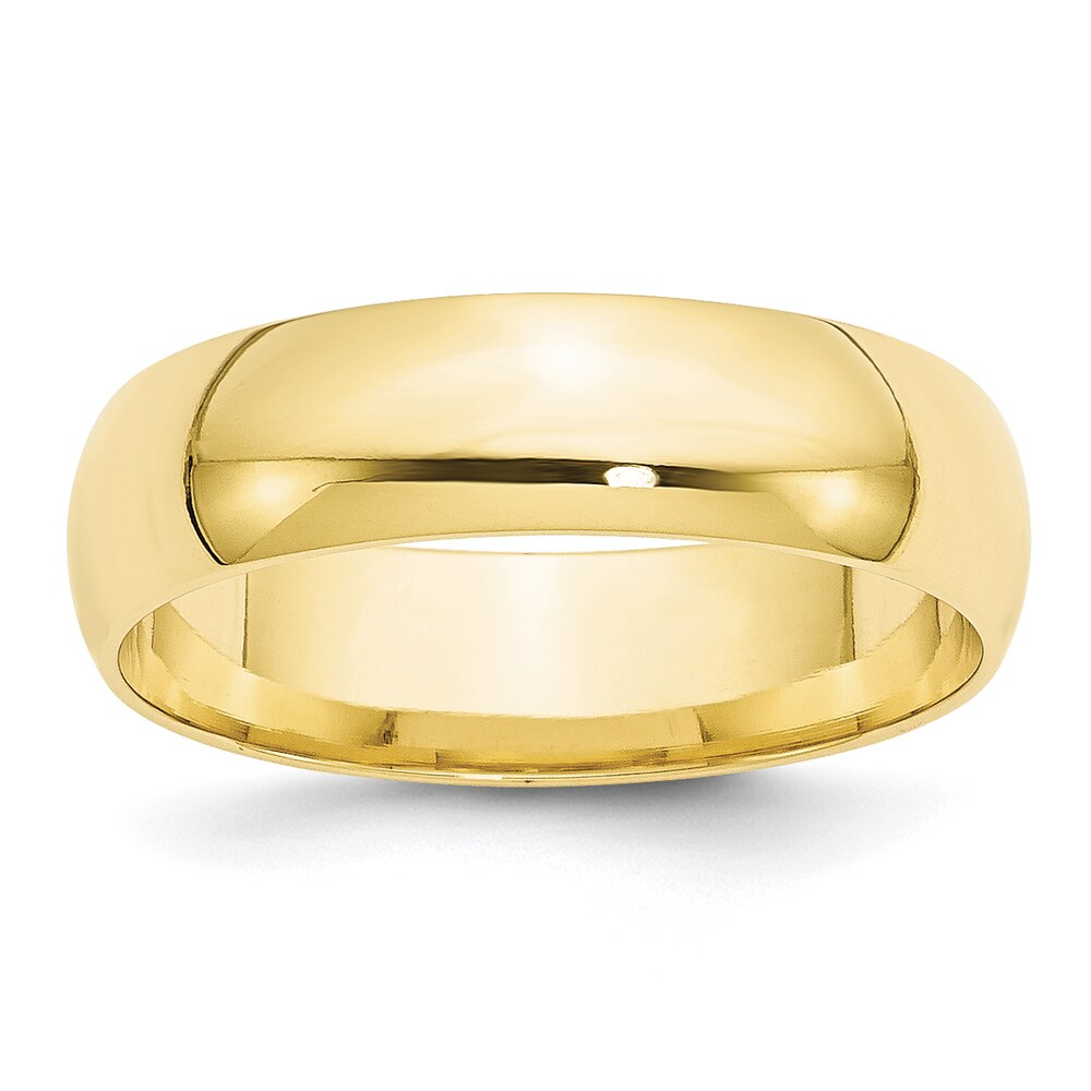 10K Yellow Gold Polished 6mm Lightweight Comfort Fit Band by Versil (5)