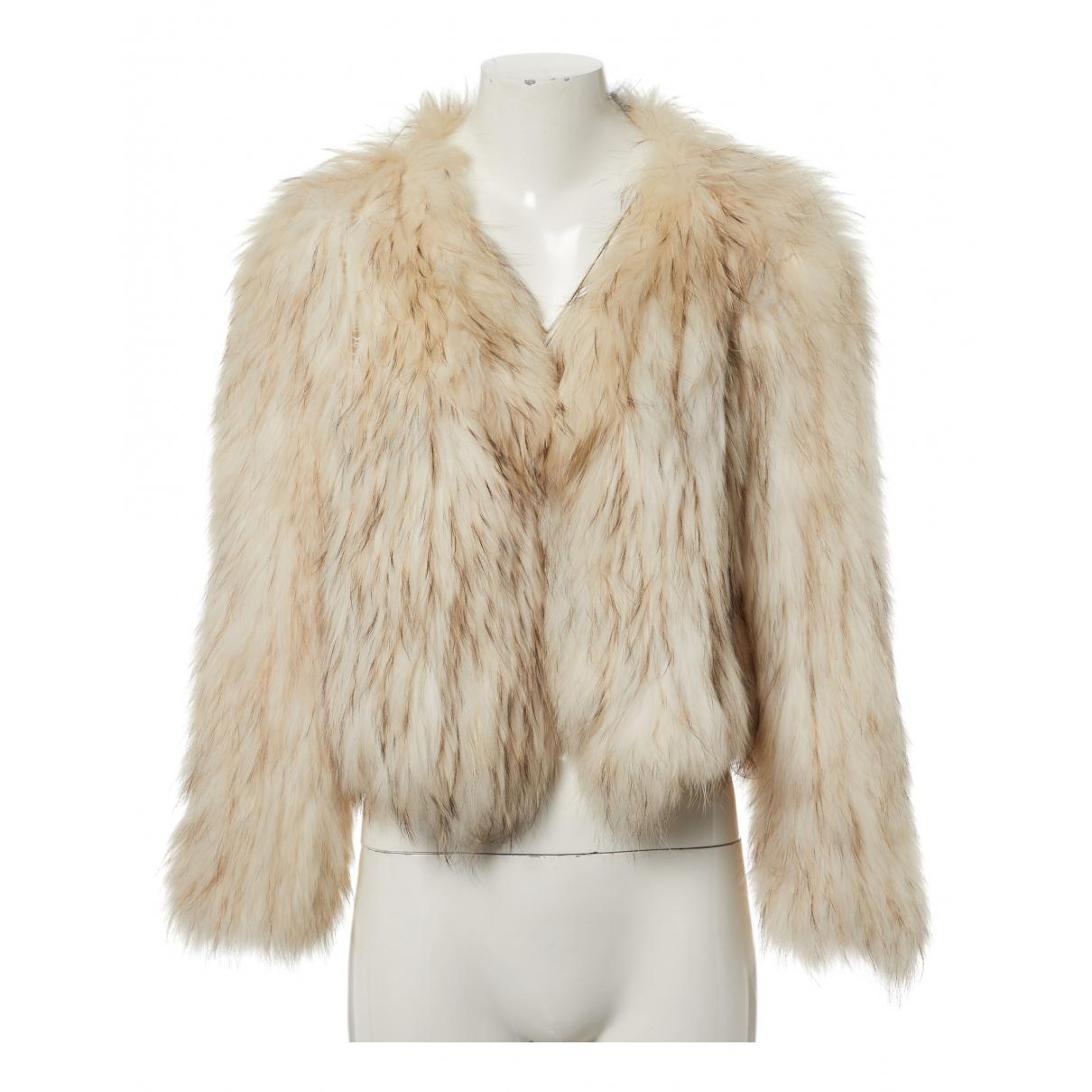 Saks Potts - Manteau   pour femme en racoon - blanc