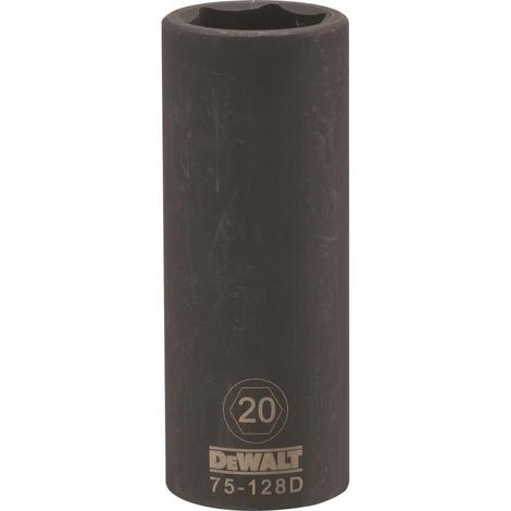 DeWalt 6 Point 1/2# Drive Deep Impact Socket 20 MM