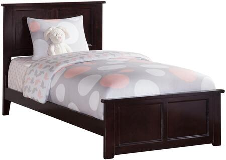 Madison Collection AR8616031 Twin Extra Long Size Traditional Bed with Matching Footboard  Foundation Support Boards and Eco-Friendly Solid Hardwood