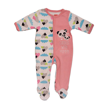 Fisher-Price Baby Girls Sleep and Play, 6-9 Months , Pink