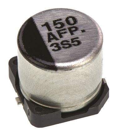 Panasonic 150μF Electrolytic Capacitor 10V dc, Surface Mount - EEEFP1A151AP (5)