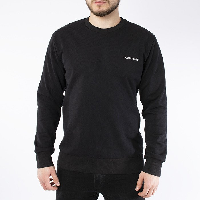 Carhartt WIP Script Embroidery Sweat I024678 BLACK/WHITE