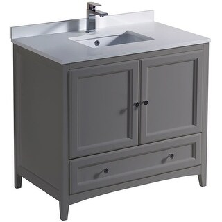 Fresca FCB2036-U Oxford 36 Free Standing Vanity Set with Wood (Gray)