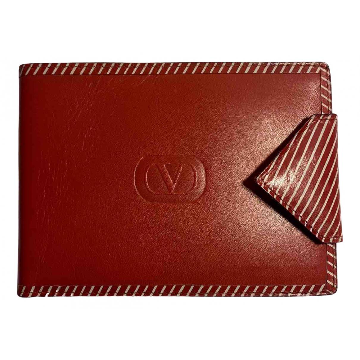 Valentino Garavani - Petite maroquinerie   pour femme en cuir - rouge