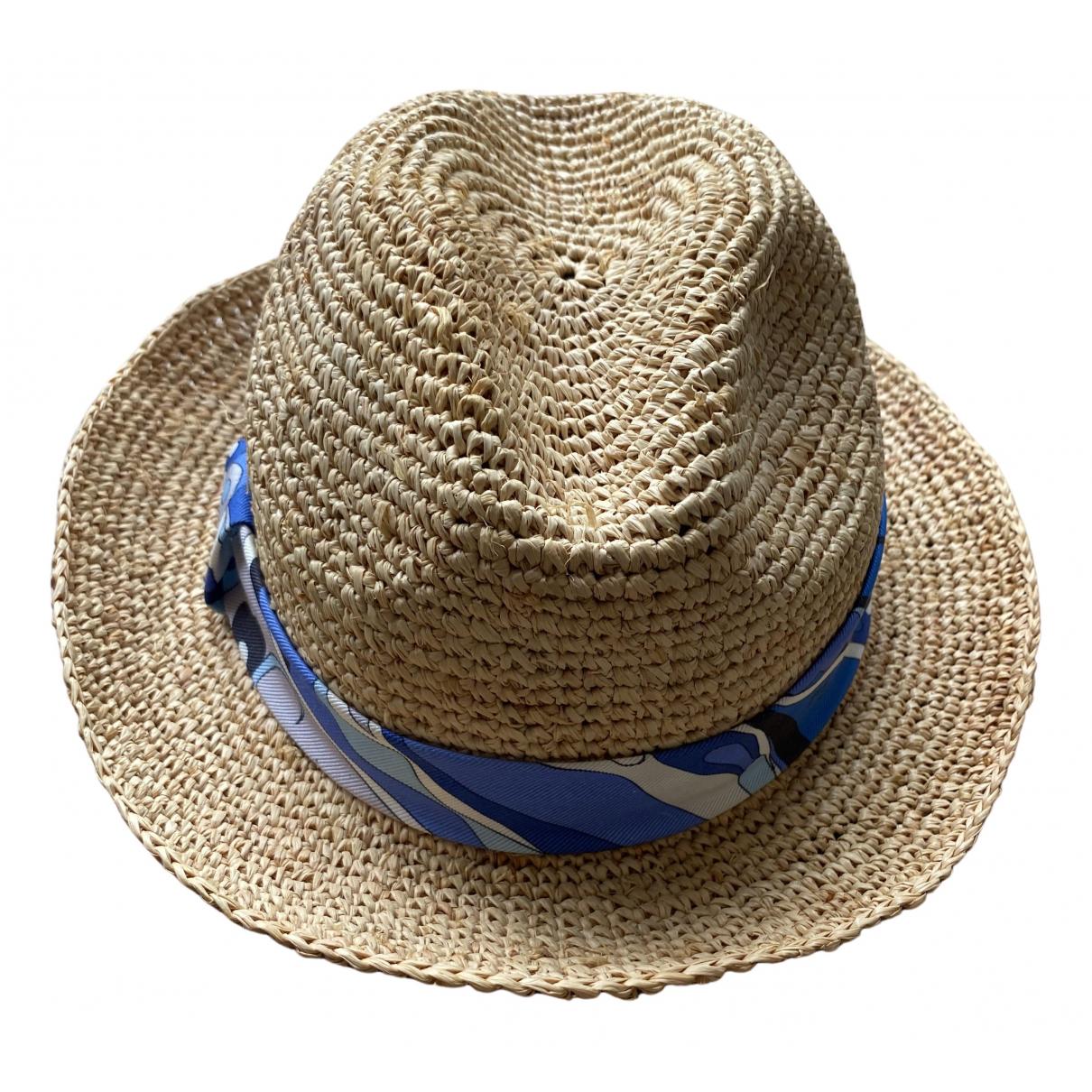 Emilio Pucci - Chapeau   pour femme en paille - beige