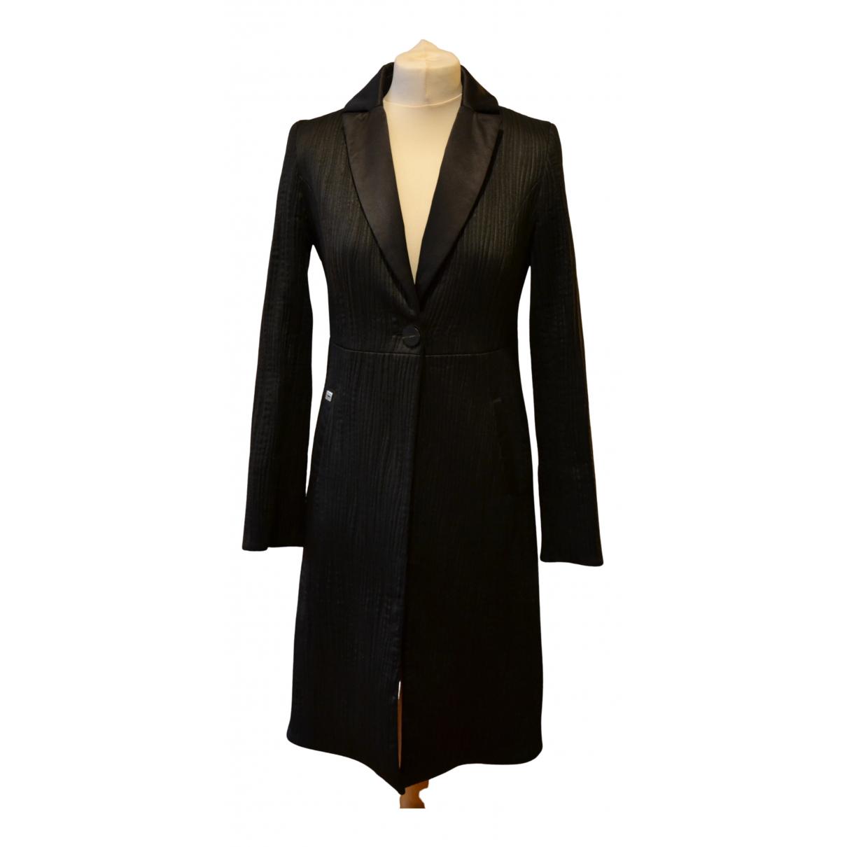 Non Signé / Unsigned N Black Cotton coat for Women 42 IT