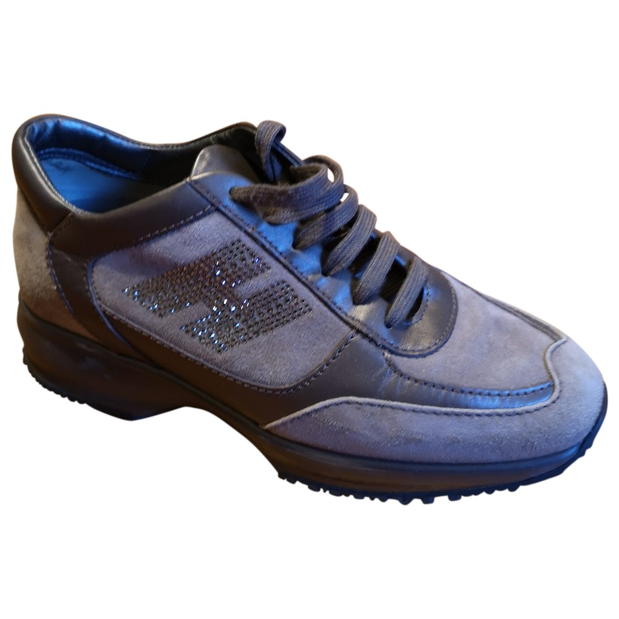 Hogan \N Brown Leather Trainers for Women 36.5 EU