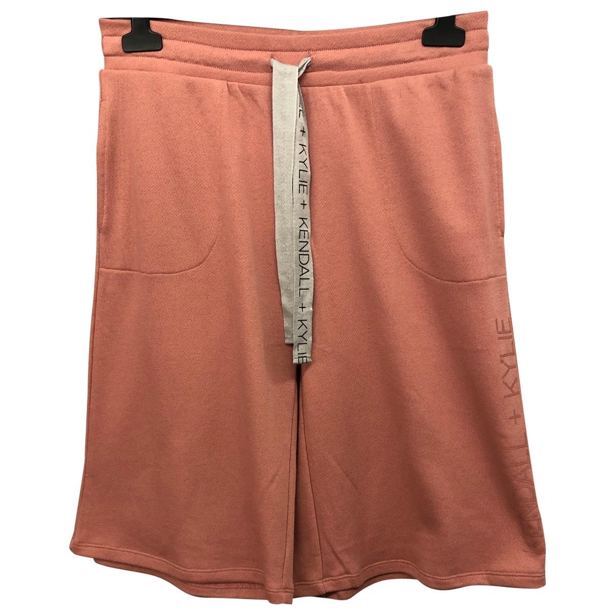 Kendall + Kylie - Short   pour femme en coton - rose