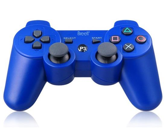 Six-Axis DualShock Wireless Bluetooth Gamepad for PlayStation 3 Controller - Blue
