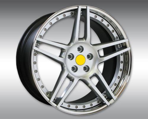 Novitec F4 888 01 NF3 3 Piece Front Wheel Silver With Polished Lip 21x9.5 Ferrari California T 15-17