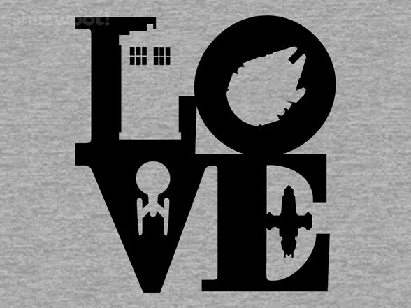I Love Scifi - Heather Remix T Shirt