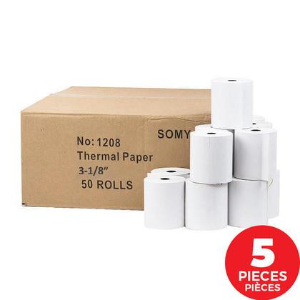 Somy Thermal Paper Rolls, 3-1/8