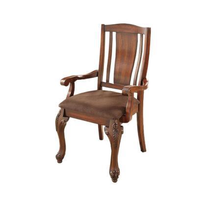 BM131796 Johannesburg I Traditional Arm Chair  Brown Cherry  Set Of