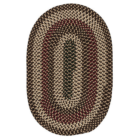 Colonial Mills Brook Farm Reversible Braided Indoor Outdoor Round Rug, One Size , Brown