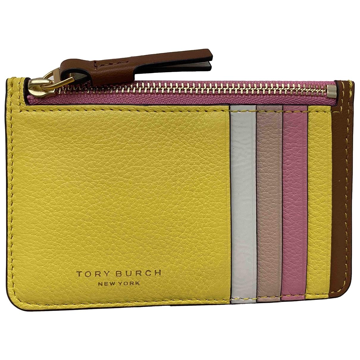Tory Burch - Portefeuille   pour femme en cuir - multicolore