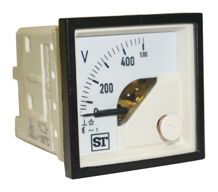 Sifam Tinsley AC Analogue Voltmeter, 500V, 45 x 45 mm,